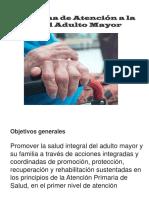Presentacion El Adulto Mayor
