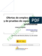 BOLETIN SEMANAL CONVOCATORIA OFERTA EMPLEO PUBLICO DEL 6 AL 12 DE MARZO DE 2018.pdf