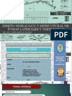 Diapositivas Vertederos y Tomas Laterales