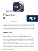 5 Types of SMEs