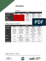 production schedule  fmp