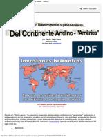 Plan Maestro Para La Supra-Colonización Del Continente Andino - América
