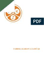 Fabrika Kablova Zajecar Katalog