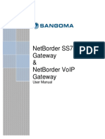 Netborder SS7 VoIP Media Gateway User Manual v1.0.15