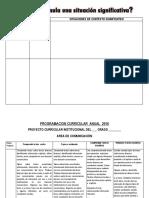Insumos Elaboracion Pci, Sitiuaciones Significativas Etc