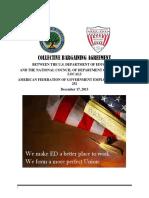 AFGE/ED Collective Bargaining Agreement - December 2013