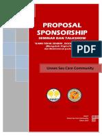 Proposal Seminar Sponshorship