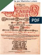 Folha de Rosto Bíblia Traduzida Por Lutero