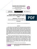 Sintesis Komposit Montmorillonit Tio2 Dan Aplikasinya Untuk Pengolahan Limbah Cair Pabrik Gula