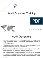 Audit Observer Training 19Jul2017