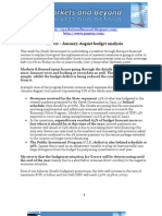 Greece - January-August Budget Analysis
