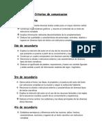 Criterios de Comunicacion II
