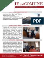 Notizie Dal Comune di Borgomanero del 15 Marzo 2018