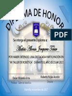 Diploma de Oscar Miranda