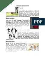 Ejercicios de Elasticidad, Fuerza, Flexibilidad, Resistencia Corporal