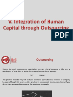 V. Integration of Human Capital Through Outsourcing