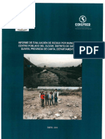 4157 Informe de Evaluacion de Riesgo Por Inundacion en El Centro Poblado Del Olivar Distrito de Santa Rosa de Quives Provincia de Canta Departamento de Lim