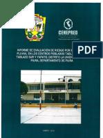 4193 Informe de Evaluacion de Riesgo Por Inundacion Pluvial en Los Centros Poblados Tablazo Norte Tablazo Sur y Yapato Distrito La Union Provincia Piura De