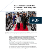 International Criminal Court Will Investigate Duterte Over Drug War