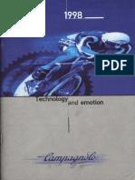 1998 Campagnolo Catalog