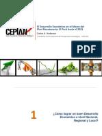 El Desarrollo Economico en El Marco Del Plan Bicentenario - Piura