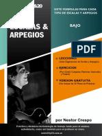 ESCALAS Y ARPEGIOS - BAJO - Versión Gratuita