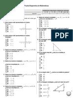 Prueba Diagnóstica de Matemáticas