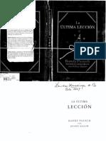La Ultima Leccion  - Randy Pausch.pdf