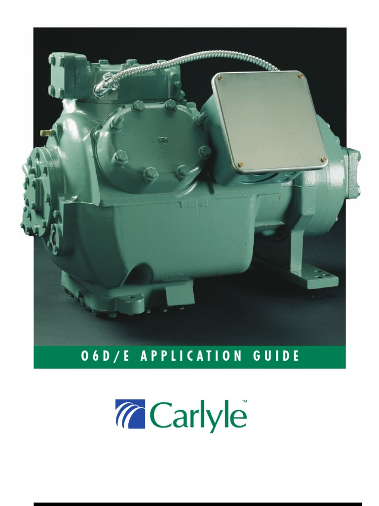Carlyle Compressor O6D/E | Pump | Air Conditioning on