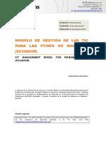 Modelo de Gestión de las Tic para las Pymes de Riobamba (Ecuador)  Maria Slusarczyk Antosz
