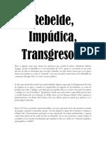 Rebelde - Débora Arango - Ensayo