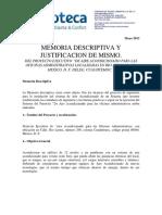 Memoria Descriptiva de Proyecto Rio Lerma