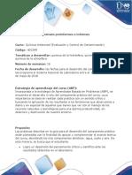 Fomato Preinformes e Informes Quimica Ambiental