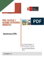 Politicas y Acciones de Eficiencia Energetica Del Peru