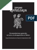 Informe Ayotzinapa Recomendaciones Generales