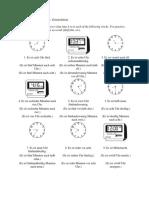 A1 Antworten Zum Arbeitsblatt Die Zeitangaben