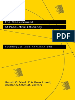 Harold O. Fried, Shelton S. Schmidt, C. a. Knox Lovell-The Measurement of Productive Efficiency_ Techniques and Applications (1993)