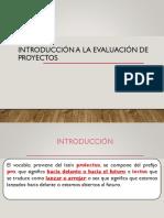 Introducción Eval Proyectos