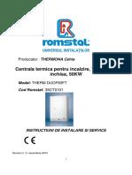 Duo50ftthermona Manual Tehnic Duo50ft-Instalare,Service