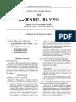 134-924 ORDEN DEL DIA