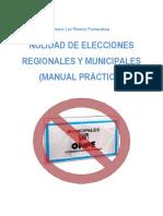 Nulidad de Elecciones Regionales y Municipales