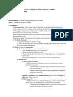 Informative Speech Outline Format 3-5 Minutes