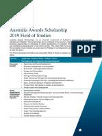 Pakistan Field of Study Australia Awards Scholarships 2019