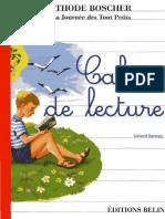 Apprentissage de La Lecture - CP - Méthode Boscher - Cahier de Lecture