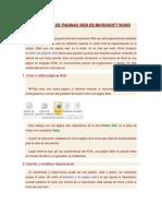Creacion de Paginas Web en Microsoft Word