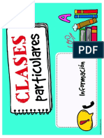 Cartel Clases Particulares Para Imprimir