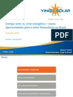 Energia Solar X Crise Energética - Marcus Vlasits