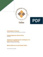 Analisis Administracion Estrategica. Valencia