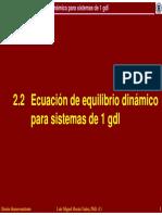 2.2 Ecuacion de Equilibrio Dinamico Para Sistemas de 1 Gdl