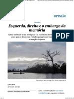 Esquerda, Direita e o Embargo Da Memória _ Opinião _ EL PAÍS Brasil
